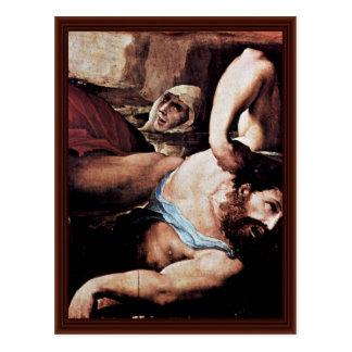 El castigo del detalle del infierno (el día del ju tarjetas postales