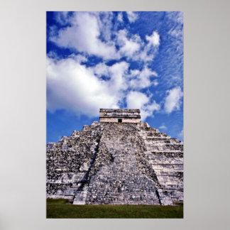 El Castillo-11th Century Mayan Toltec Ruins Print