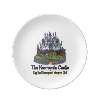 "El castillo 8"" de la necrópolis placa platos de cerámica"