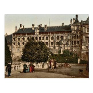 El castillo, ala de Francisco I, la fachada, Blois Tarjeta Postal