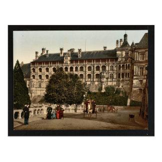 El castillo, ala de Francisco I, la fachada, Blois Postales