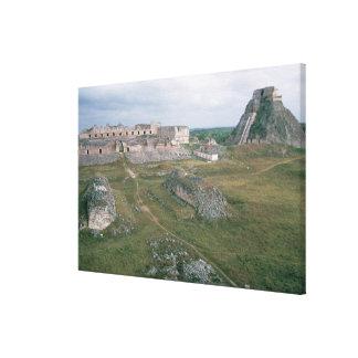 El Castillo and the Nunnery Canvas Print