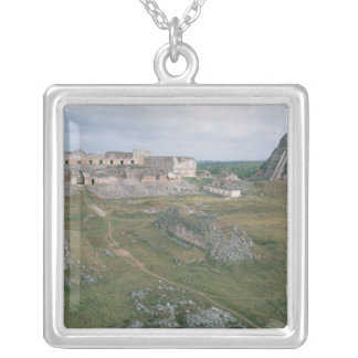 El Castillo and the Nunnery Silver Plated Necklace