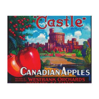 El castillo Apple etiqueta - Westbank A.C. Canadá Impresiones De Lienzo