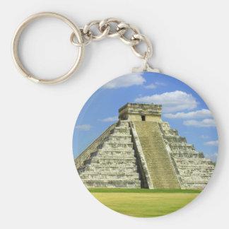 EL Castillo, Chichen Itza México Llavero Redondo Tipo Pin