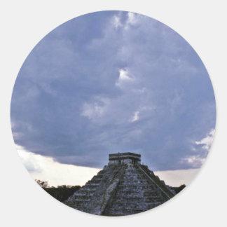 El Castillo, Chichen Itza Classic Round Sticker
