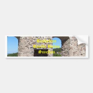 El castillo de Brahehus arruina Suecia Pegatina Para Auto