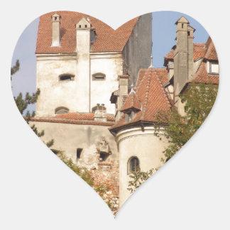 El castillo de Drácula, Transilvania Pegatina En Forma De Corazón