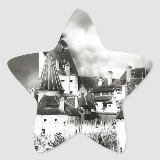 El castillo de Drácula, Transilvania Pegatina En Forma De Estrella