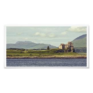 El castillo de Duart y la isla de reflexionan sobr Arte Con Fotos