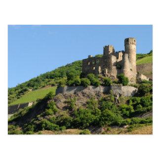 El castillo de Ehrenfels arruina - el río Rhine - Postal