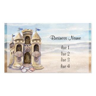 El castillo de la arena soña el calendario 2013 tarjetas de visita