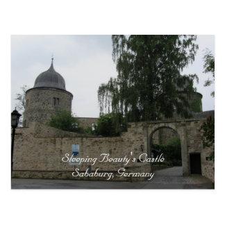 El castillo de la bella durmiente tarjeta postal