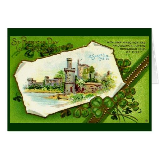 El castillo de Shane, vintage del día de St Tarjeta De Felicitación
