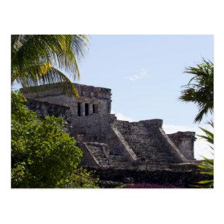 El Castillo de Tulum - Mayan ruins Postcard