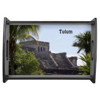 El Castillo de Tulum - Mayan ruins Serving Tray