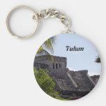 El Castillo de Tulum - ruinas mayas Llavero Redondo Tipo Pin