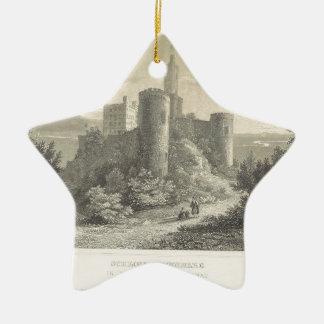 El castillo del ortenberg 1860, Darmstad Adorno De Cerámica En Forma De Estrella