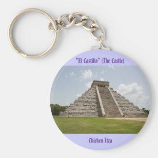 """""""EL Castillo"""" (el castillo) en Chichen Itza Llavero Redondo Tipo Pin"""