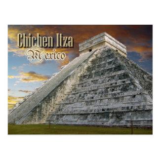 EL Castillo en Chichen Itza, México Postal