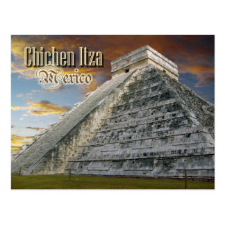 EL Castillo en Chichen Itza, México Tarjeta Postal