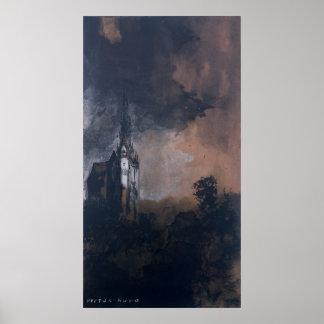 El castillo en el claro de luna póster