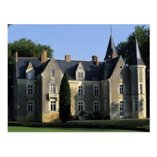 El castillo en el parque y SR.) de los jardines 2 Tarjetas Postales