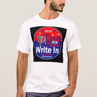 El castillo escribe en la camiseta de Delaware