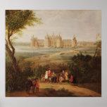 El castillo francés de Chambord, 1722 Póster