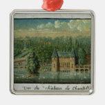 El castillo francés de Chantilly Adorno