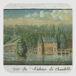 El castillo francés de Chantilly Calcomanías Cuadradass