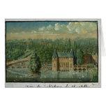 El castillo francés de Chantilly Tarjeta