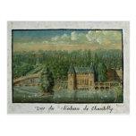El castillo francés de Chantilly Tarjeta Postal