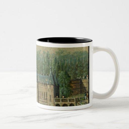 El castillo francés de Chantilly Tazas De Café