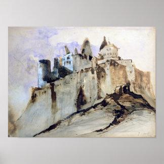 El castillo francés de Vianden, 1871 Impresiones