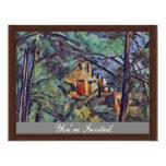 """El castillo francés Noir """"detrás de árboles"""" por Anuncios"""