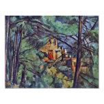 """El castillo francés Noir """"detrás de árboles"""" por Comunicado Personalizado"""
