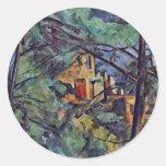 "El castillo francés Noir ""detrás de árboles"" por Etiqueta Redonda"