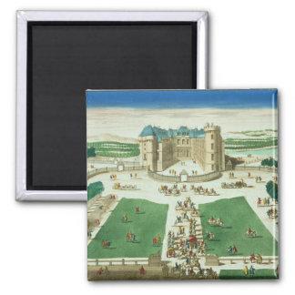 El castillo francés Rambouillet, grabada por Antoi Imán Cuadrado