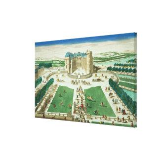 El castillo francés Rambouillet, grabada por Antoi Impresión En Lienzo