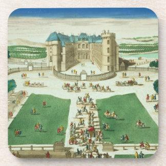 El castillo francés Rambouillet, grabada por Antoi Posavaso