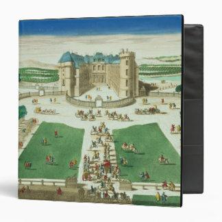 El castillo francés Rambouillet, grabada por