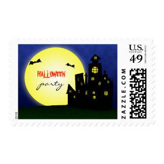 El castillo frecuentado golpe el   de Halloween Timbres Postales