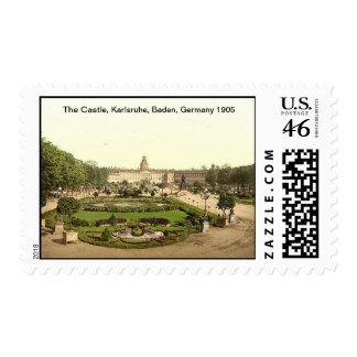 El castillo, Karlsruhe, Baden, Alemania 1905 Envio