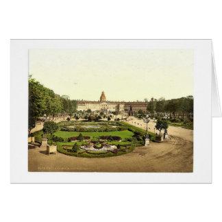 El castillo, Karlsruhe, Baden, Alemania Photoch ra Tarjeta