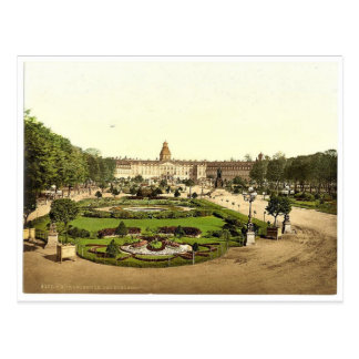 El castillo Karlsruhe Baden Alemania Photoch ra Tarjetas Postales
