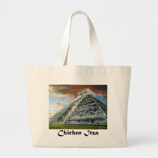 El Castillo Large Tote Bag