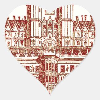El castillo pegatina en forma de corazón