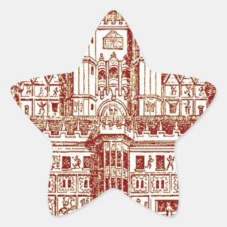 El castillo pegatina en forma de estrella