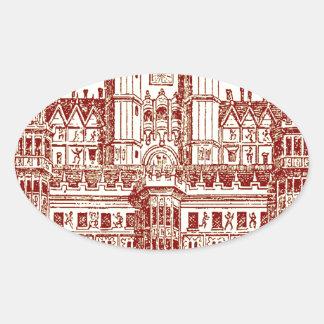 El castillo pegatina ovalada